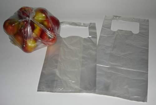 Knotenbeutel Für Obst Und Gemüse, Extra Stark, Geblockt Zum Aufhängen, Transparent, 11 My