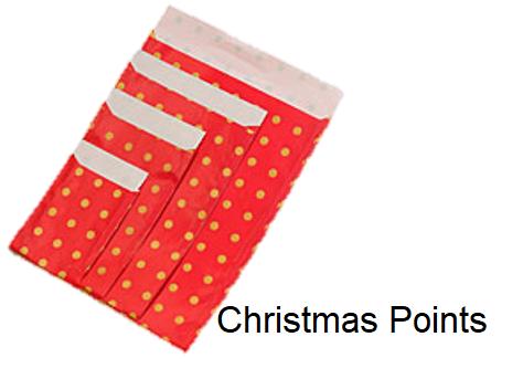 Geschenkflachbeutel Christmas Points
