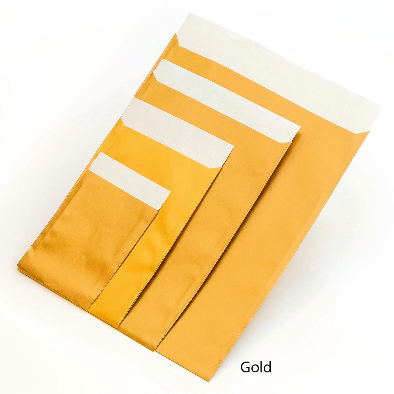 Geschenkflachbeutel Gold