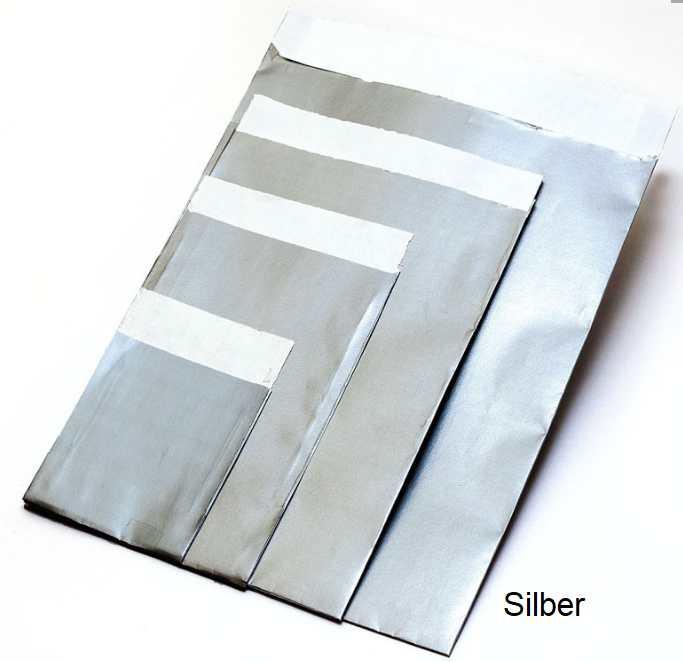 Geschenkflachbeutel Silber