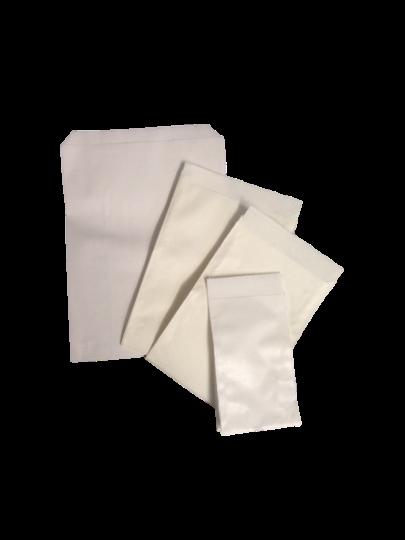 Geschenkflachbeutel, Weiß