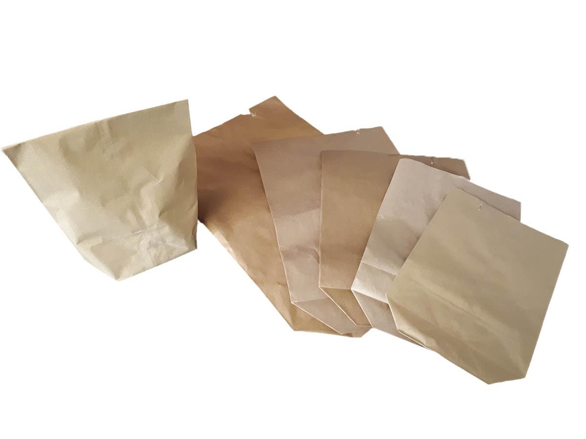Papierbeutel Braun Ohne Henkel, Aus Natron Kraft Mit Kreuzboden