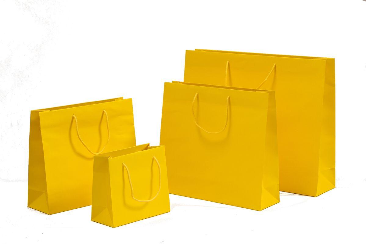 Papiertragetaschen POP Gelb
