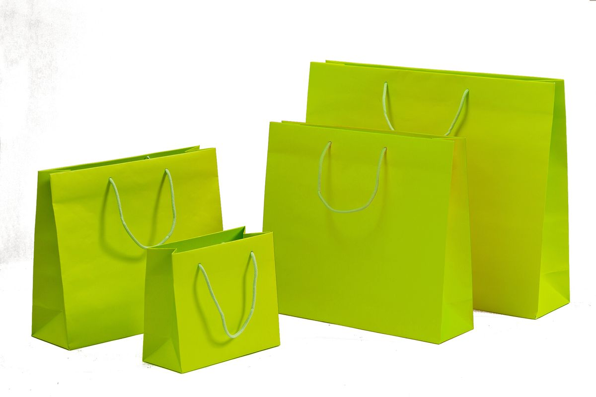Papiertragetaschen POP Grün