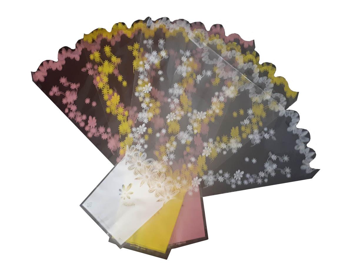 """Verpackungstrichter Für Schnittblumen Motiv """"MELODY"""", 40 My, 2-seitig, 1-farbig Mit Bogenrand"""