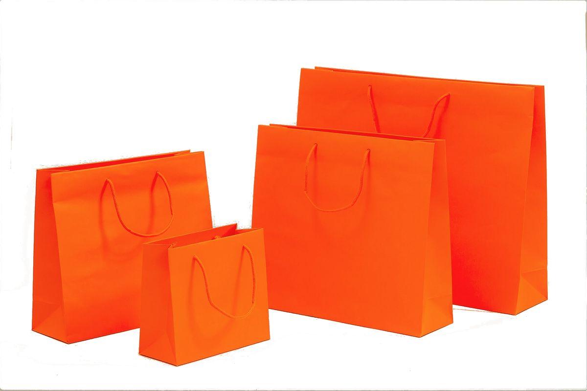 Papiertragetaschen POP Orange