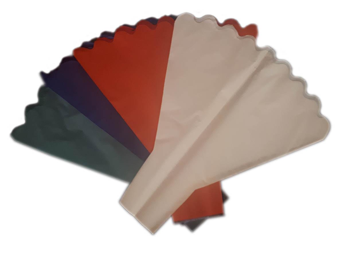 """Verpackungstrichter Für Schnittblumen Motiv """"PAPER-LOOK"""", 40 My, 2-seitig, 1-farbig Mit Bogenrand"""