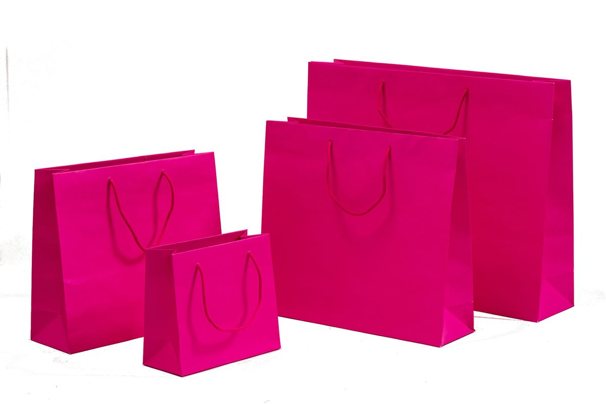 Papiertragetaschen POP Pink