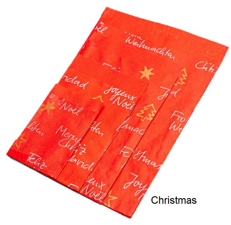 Geschenkflachbeutel Christmas