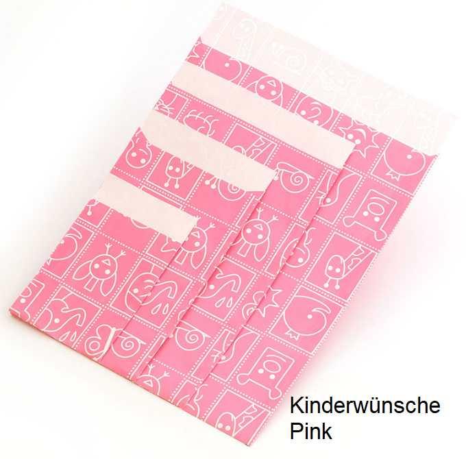 Geschenkflachbeutel Kinderwünsche Pink