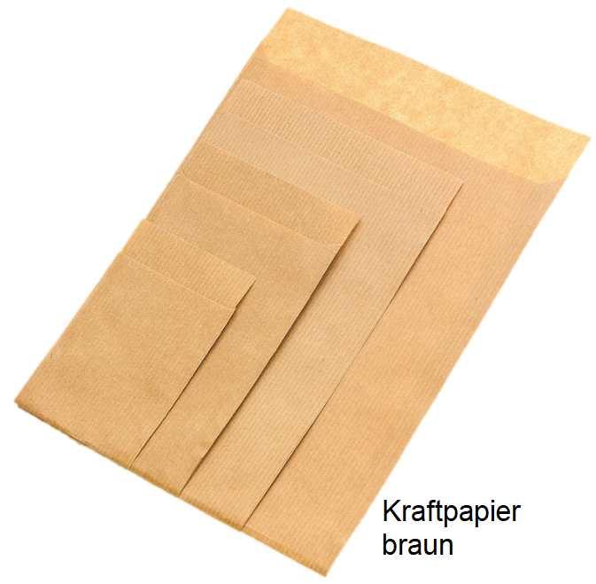 Geschenkflachbeutel Kraftpapier braun
