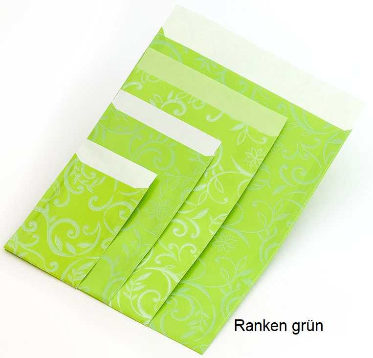 Geschenkflachbeutel Ranken Grün