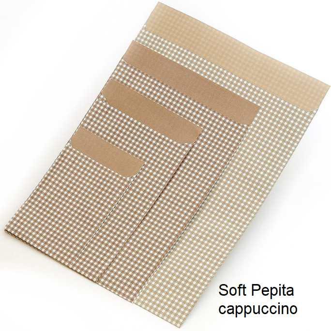 Geschenkflachbeutel Soft Pepita cappuccino
