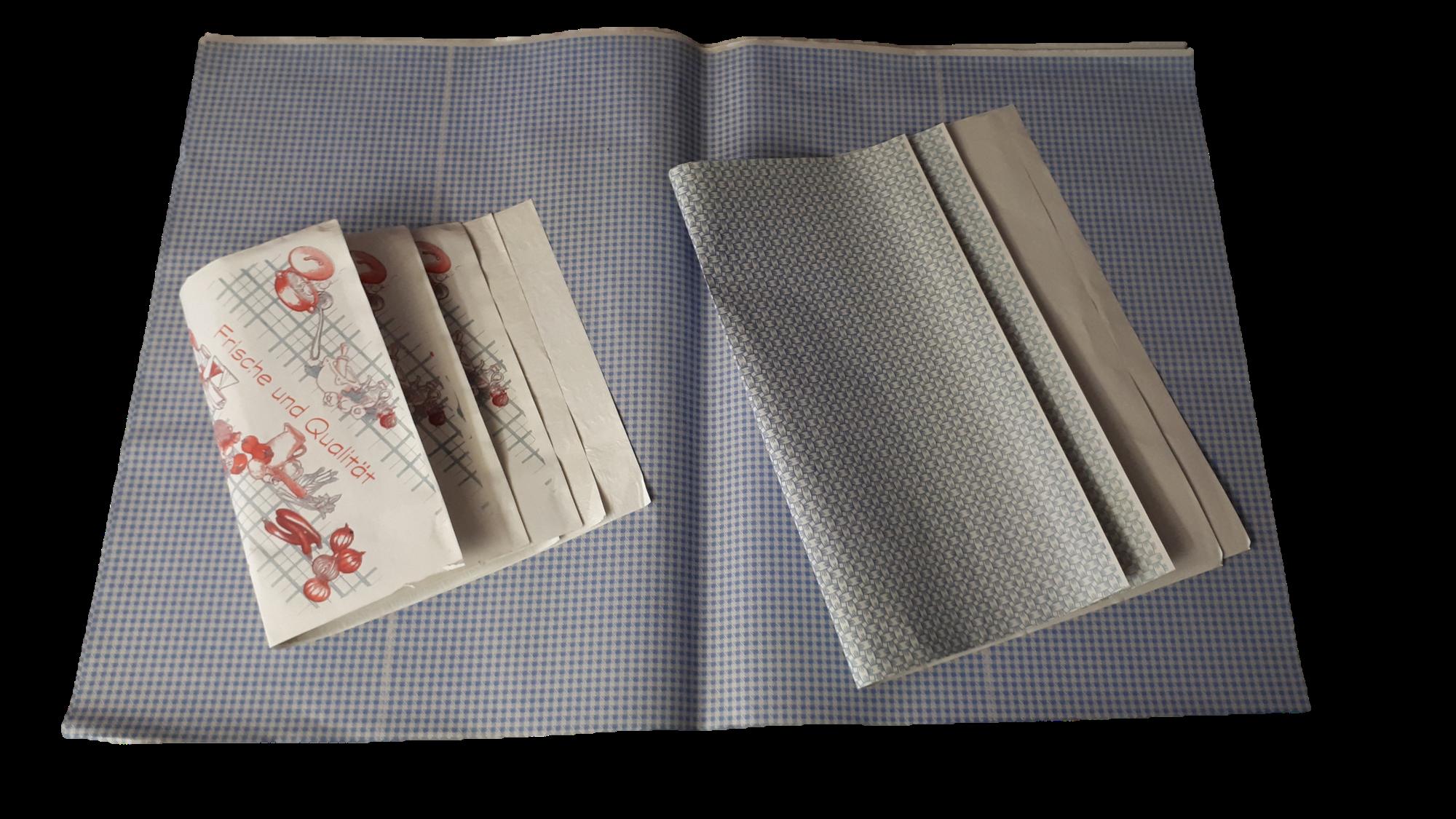 Einschlagpapier, Aus Papier Mit Folienbeschichtung